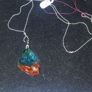 Colored glass necklace